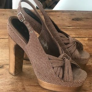 Designer Marni Brown HighHeel Shoe